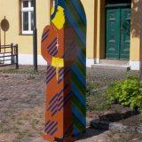 Stahlfigur, farbig lackiert
