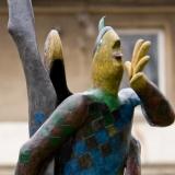 Lebensgroße Bronzefiguren, farbig
