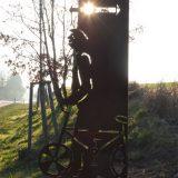 """Stahlskulptur """"Fahrradfahrer"""""""