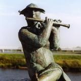 Flötenspieleri, Bronze
